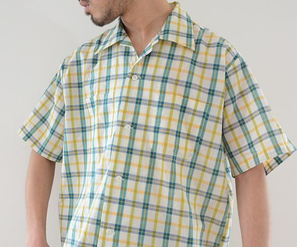60sビンテージSearsマドラスチェックボックスシャツ古着USED