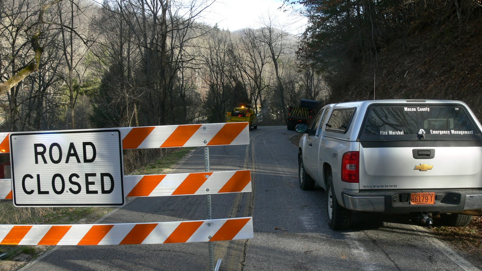Barricade on Ellijay Road