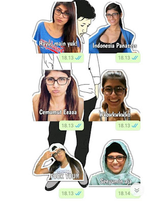 Download Stiker Mia Khalifa Whatsapp