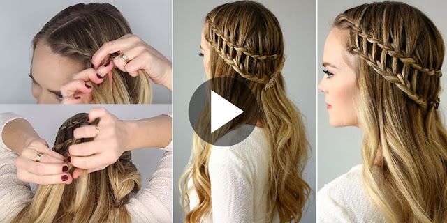Learn - How To Create Half Up Ladder Braid Hairstyle, See Tutorial