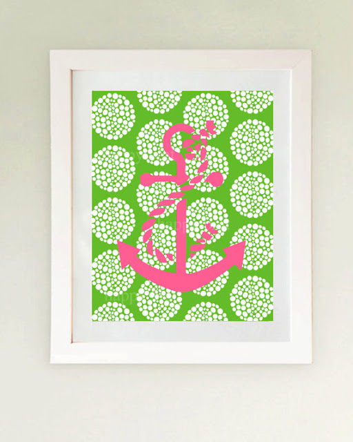 Preppy Home: Preppy Pink And Green Home Decor