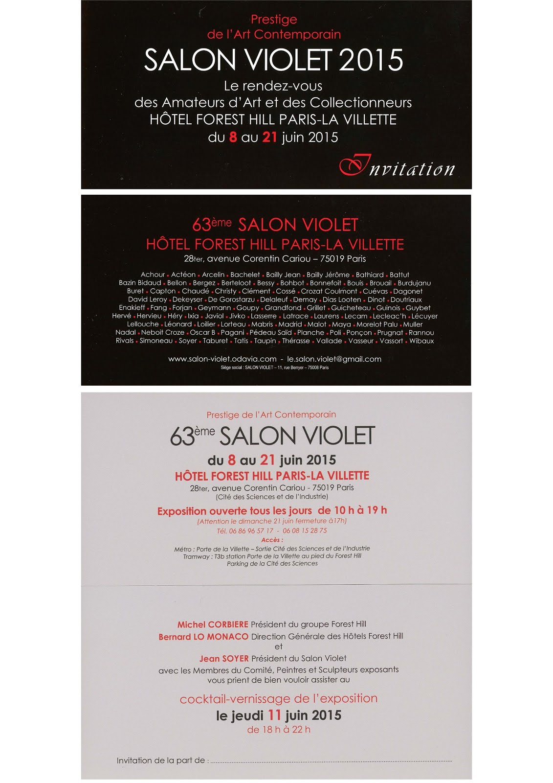 PARIS : CAPTON AU SALON VIOLET DU 8 AU 21 JUIN 2015