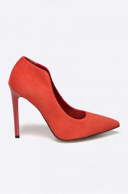 pantofi piele intoarsa naturala cu toc ieftini