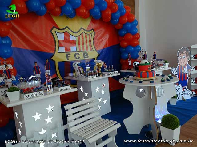 Decoração temática Barcelona para festa de aniversário infantil