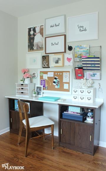 Office Desk Gallery Wall Reveal Diy Playbook