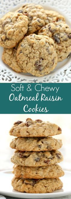 These Soft and Chewy Oatmeal Raisin Cookies Recipe