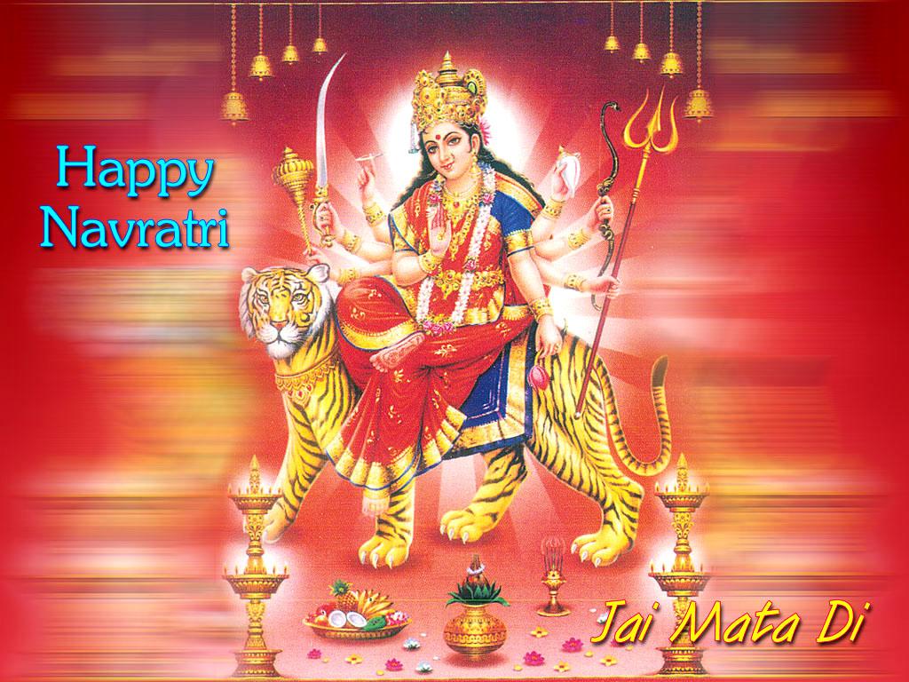 3d Wallpaper Jai Mata Di Navratri Happy Navrati Hindu God Wallpapers Free Download