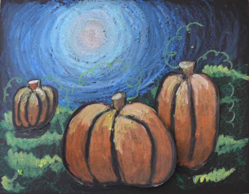 Fine Lines: Moonlit Pumpkins
