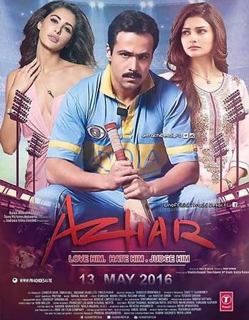 Poster Of Azhar 2016 Hindi 350MB DVDScr 480p x264 Watch Online Free Download Worldfree4u