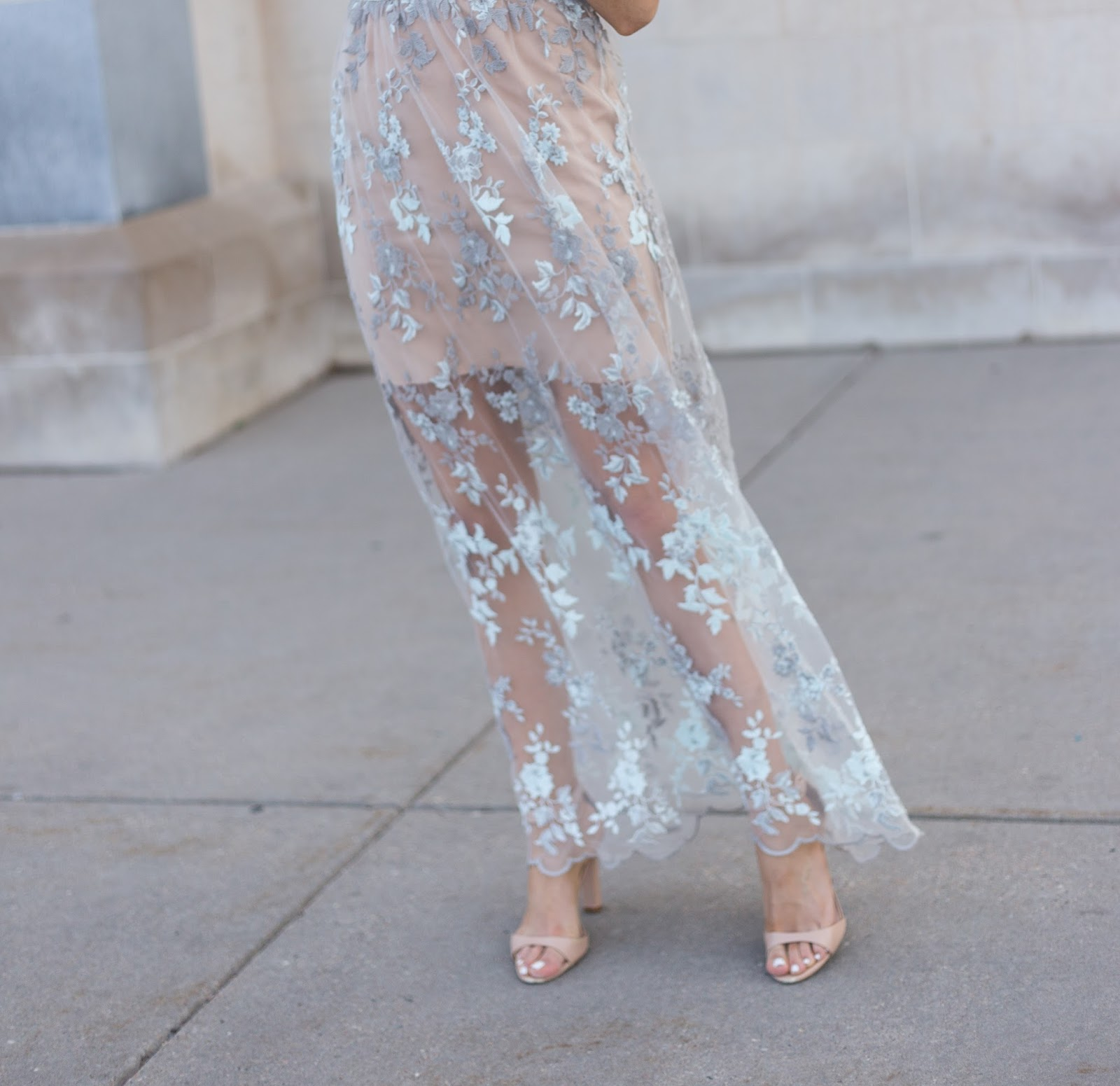 The Prettiest Lace Maxi Dress
