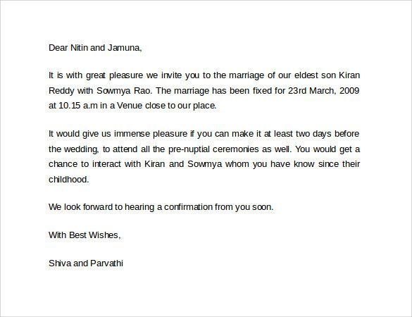 marriage application letter