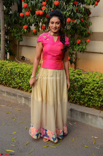 Ashmita in Pink Top At Om Namo Venkatesaya Press MeetAt Om Namo Venkatesaya Press Meet (5).JPG