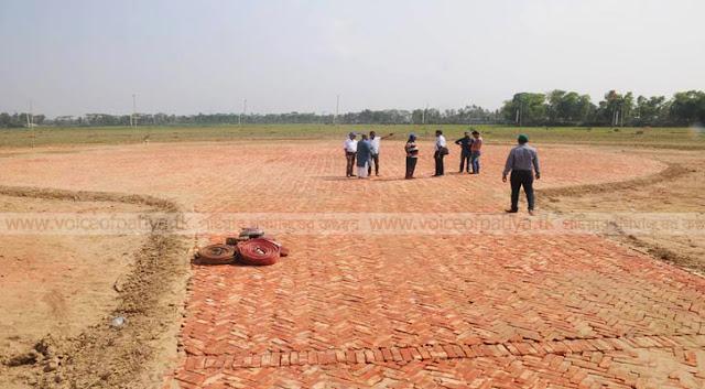 প্রধানমন্ত্রীর জন্য হেলিপ্যাড প্রস্তুত, চলছে সংযোগ সড়কের নির্মাণকাজ