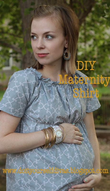 941aec2094be7 do it yourself divas: DIY: The Perfect Maternity Dress Revamped