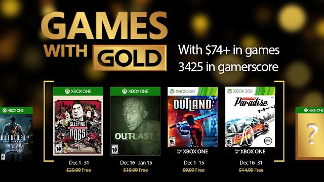 Se anuncian los juegos Games with Gold de diciembre