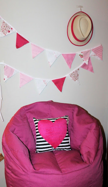how to make bunting, little girls room decor