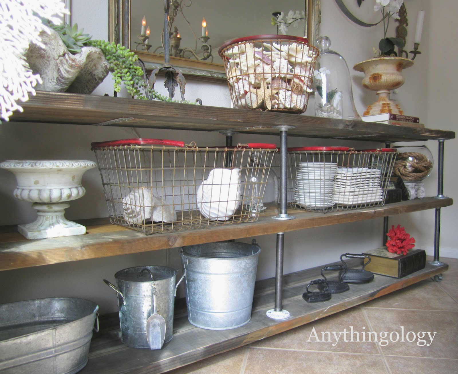 Decorative Industrial Shelving Anythingology Diy Industrial Shelves