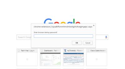cara memberi pasword di browser