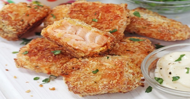 Crispy Baked Salmon Nuggets  Recipe