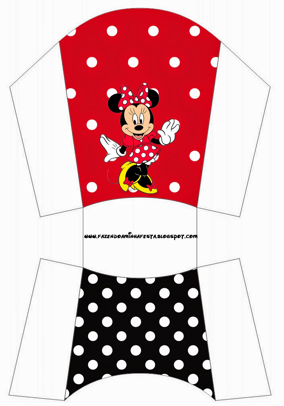 minnie red  black  yellow and polka dots  free printable