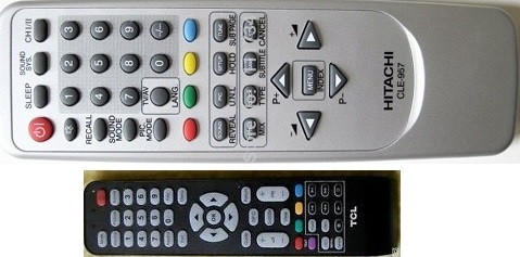 Universal remote control codes for Hitachi, TCL, Dynex and Upstar