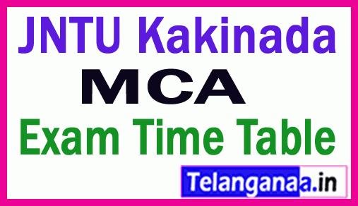 JNTU Kakinada MCA  Exam Time Table