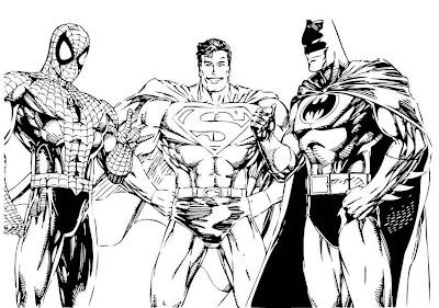 Baú da Web: Super-Heróis desenhos para colorir