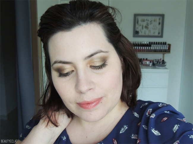 maquillage facile marron doré tutoriel pas a pas