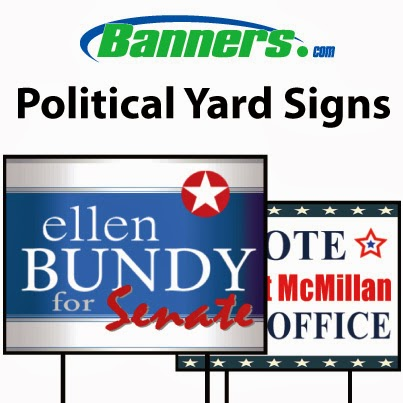 banners com how to make political yard signs online