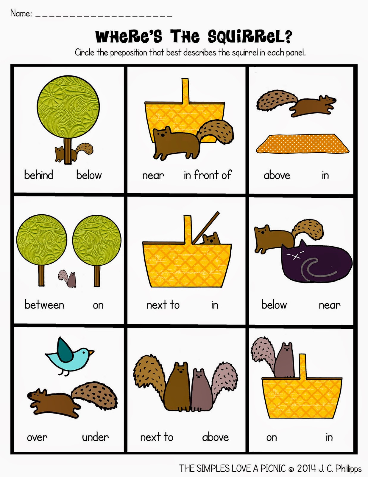 Prepositions Worksheets In On Under - prepositions free ...