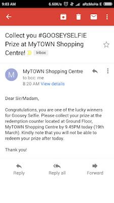Menang Contest MyTown GooseySelfie