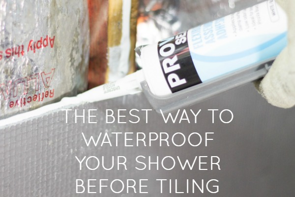 waterproof your shower before tiling