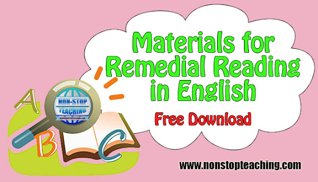 Materials for Remedial Reading in English