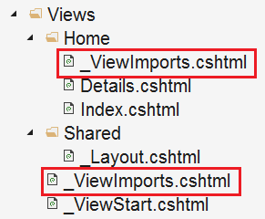 _viewimports hierarchy