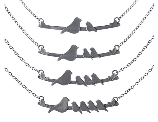 Mother Nestling Birds Necklace from Uncommon Goods