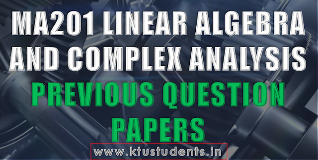 ktu ma201 question papers