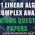 MA201 Linear Algebra and Complex Analysis Previous Question Papers