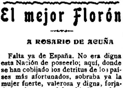 Fragmento del artículo «El mejor florón», publicado en El Motín (19-5-1923)
