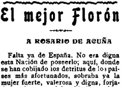 Fragmento del artículo «El mejor florón» publicado en El Motín, 19-5-1923