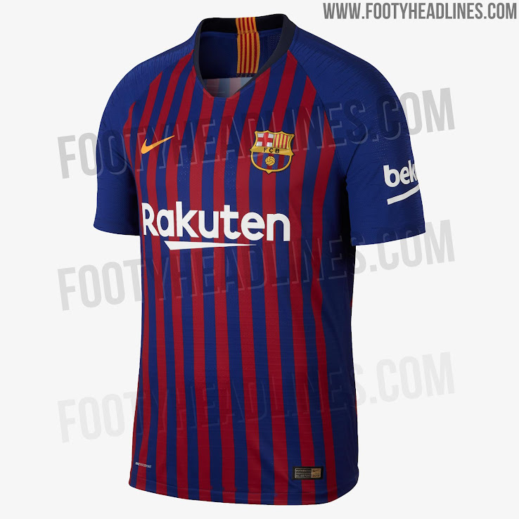 c5bc60f52 FC Barcelona 18-19 Home Kit Released - Footy Headlines