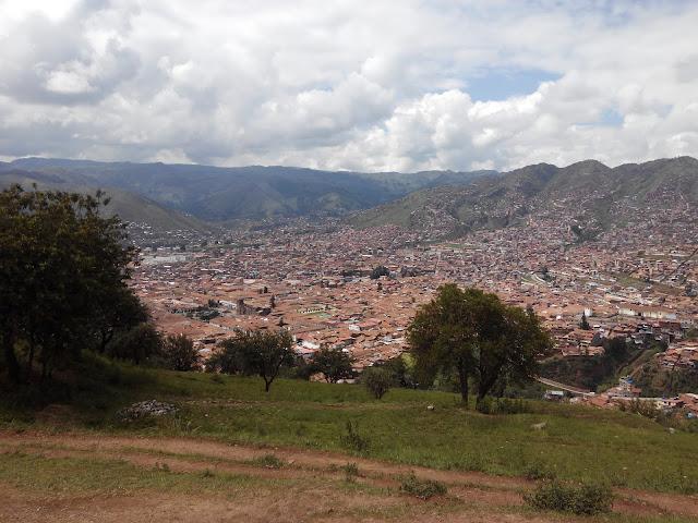 Vista de Cuzco desde Sacsayhuamán