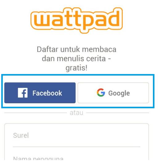 Buat akun baru wattpad tanpa email