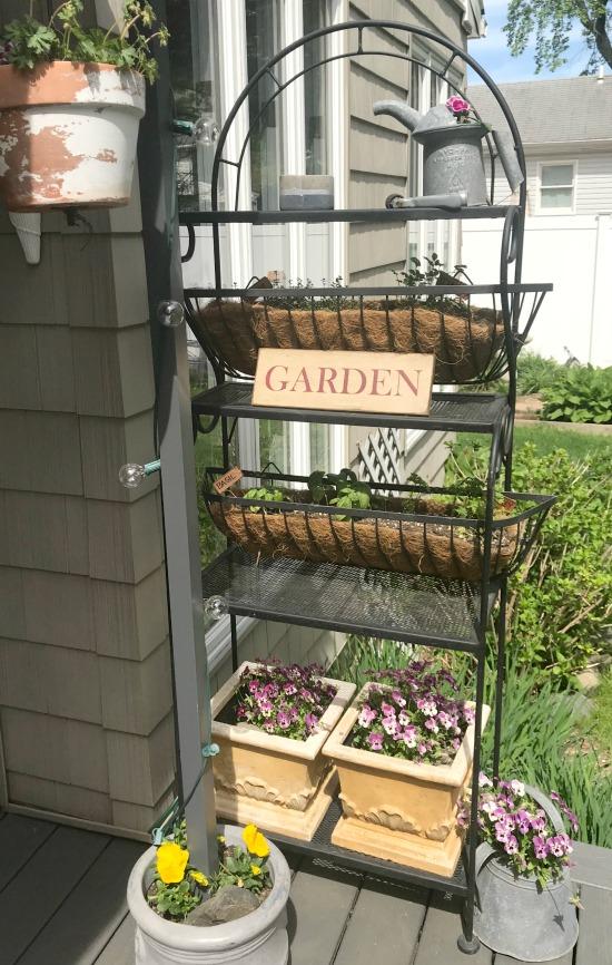 baker s rack herb garden