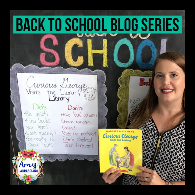 Click here to find ideas on setting expectations for the library.  Included are ideas and  an anchor chart for the very engaging book Curious George Visits The Library and The Library Mouse.  Get your back to school plans ready.   Perfect for elementary classrooms and homeschool children.  {kindergarten, first, second, k, 1st, 2nd}