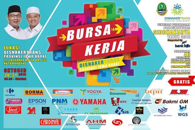Bursa Kerja DINASKERTRANS Jawa Barat (GRATIS)
