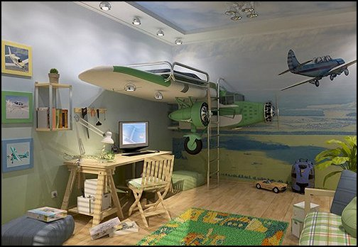 Decorating theme bedrooms maries manor airplane theme for Themed bedrooms for boys