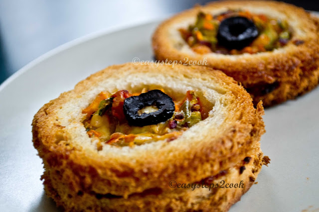 yummy snacks recipe with bread and mixed vegetables