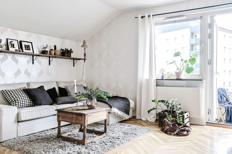 fundas cojin nordico, cojines nordicos, sofa kivik, ikea, estanterías, como decorar sofa, mantas sofa, mesa centro, alfombra, papel pintado,