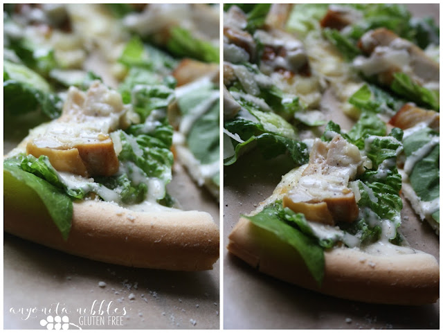 Slices of Gluten Free Chicken Caesar Salad Pizza | Anyonita-Nibbles.co.uk