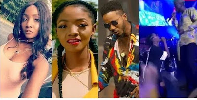 Simi Chooses Adekunle Gold over Falz Also kneels down for him on stage during her performance